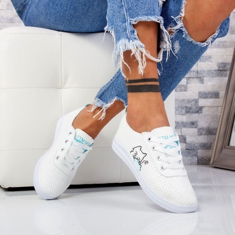 "Pantofi Sport ""MireaFashion"" Cod: F-2 WHITE/GRAY (S1)"