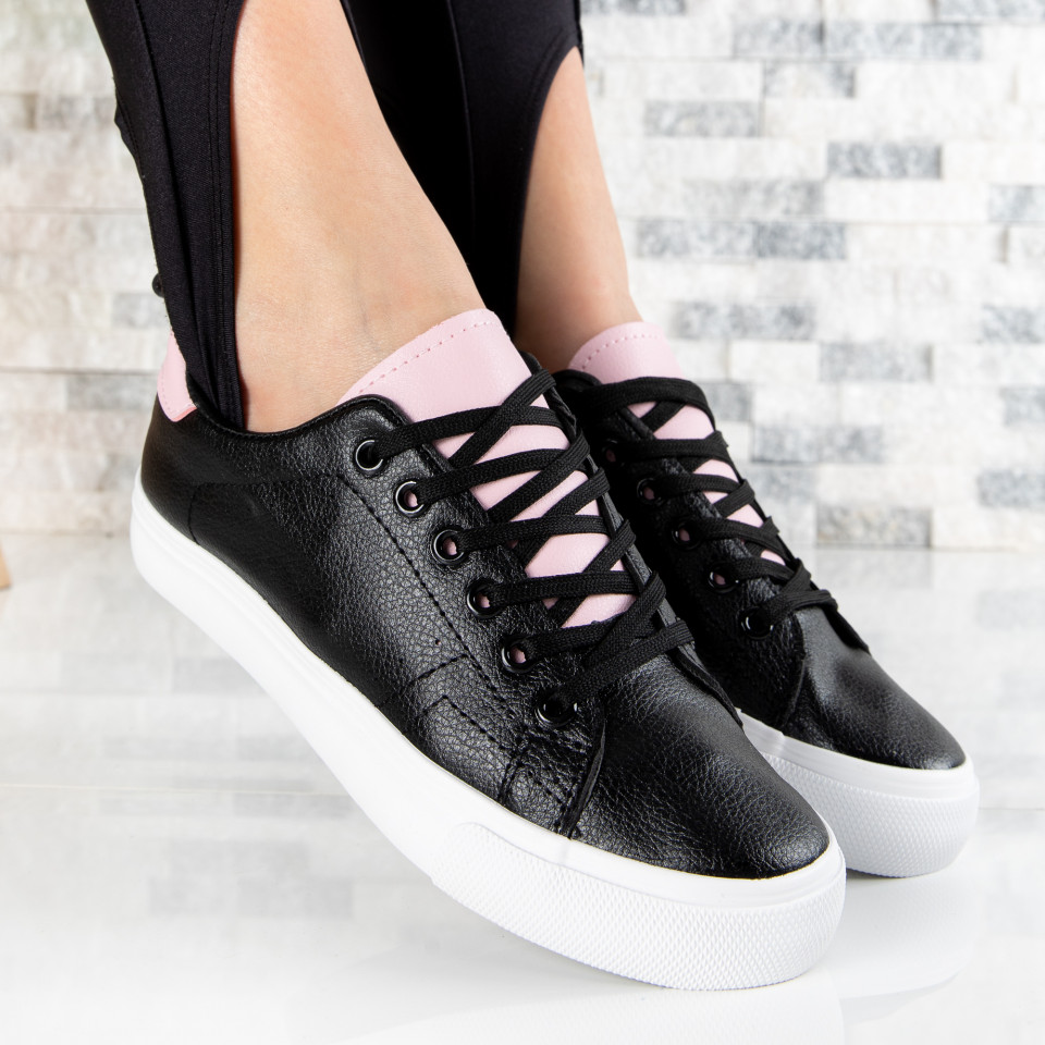 "Pantofi Sport ""MireaFashion"" Cod: H2205 BLACK/PINK (E15)"