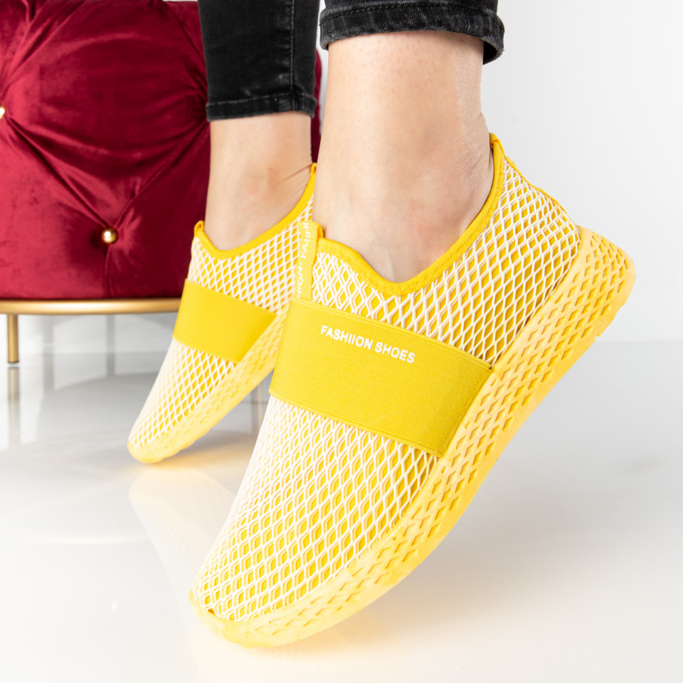 "Pantofi Sport ""MireaFashion"" Cod: SJ1972-6 YELLOW (F4-5)"