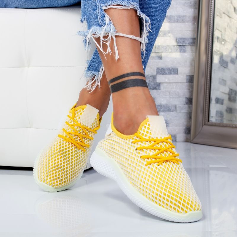 "Pantofi Sport ""MireaFashion"" Cod: YKQ2905 YELLOW (B11)"