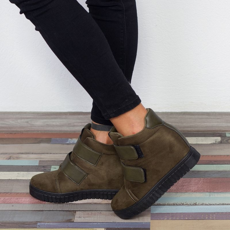 "Sneakers ""MireaFashion"" Cod: 1261 Army Green (N8)"