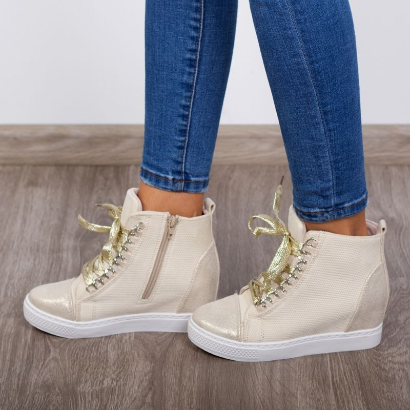 "Sneakers ""MireaFashion"" Cod: B2204 Beige (i3)"