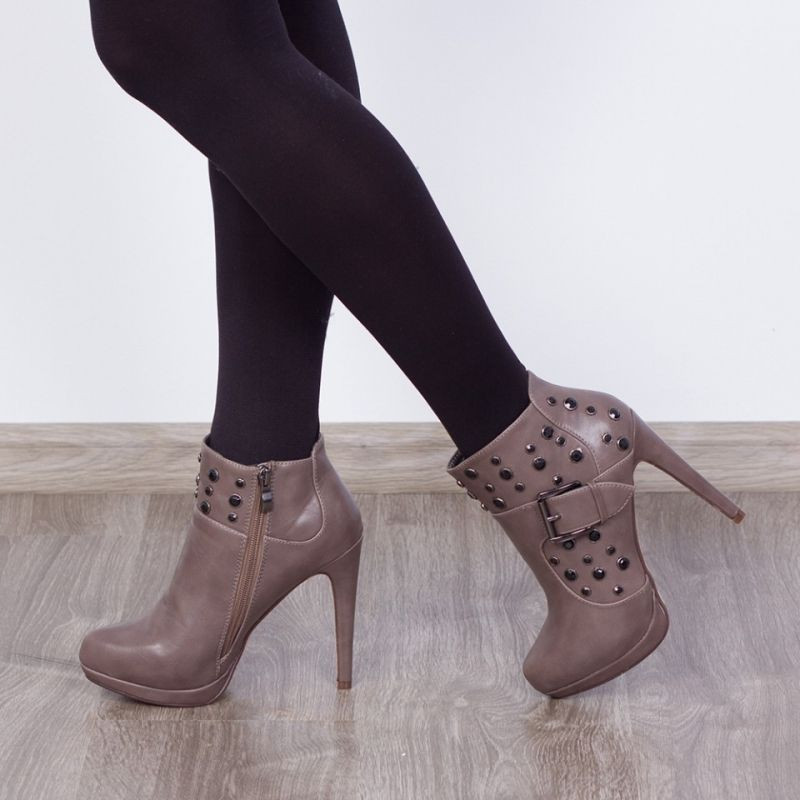 "Botine ""MireaFashion"" Cod: A-168 Khaki (D 15)"