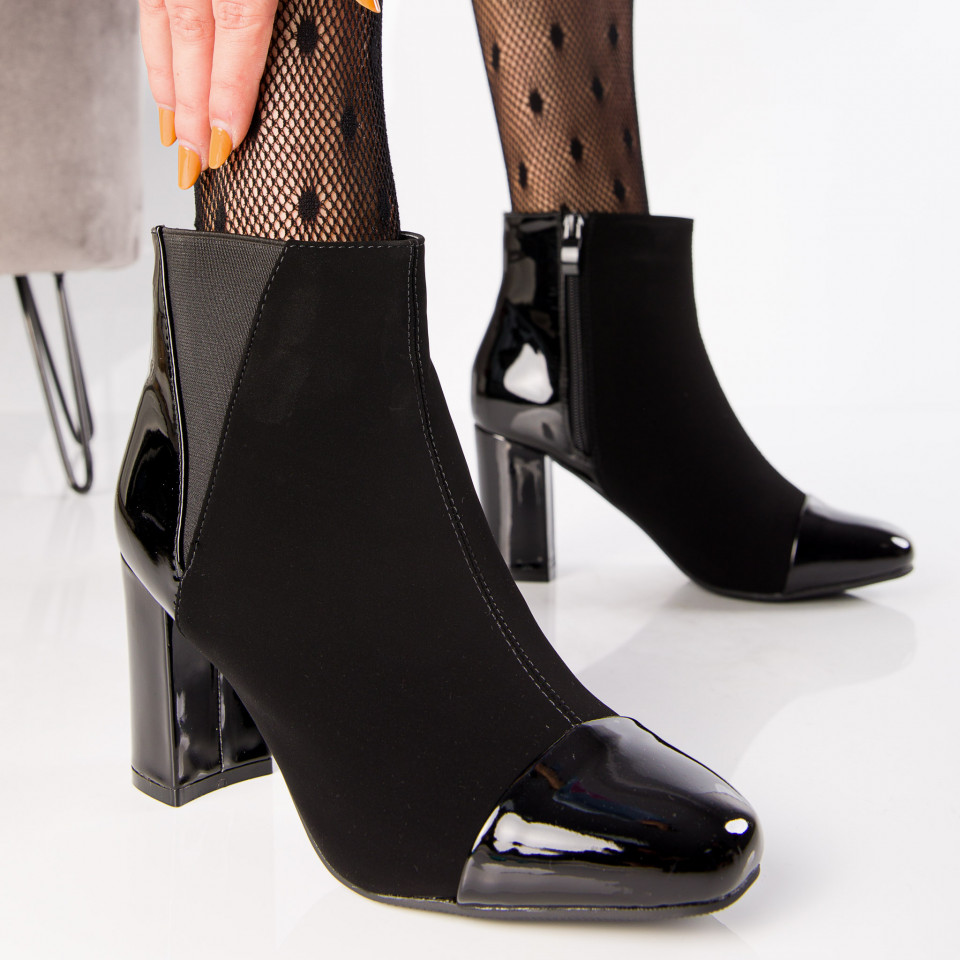"Botine ""MireaFashion"" Cod: A992 BLACK (E4)"