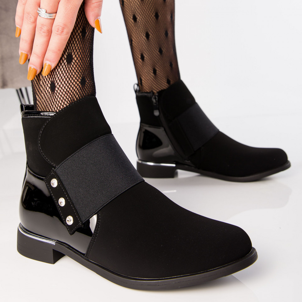 "Botine ""MireaFashion"" Cod: B73 BLACK (D10)"