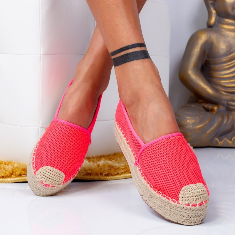 "Espadrile ""MireaFashion"" Cod: 00121 FUCHSIA (H15)"