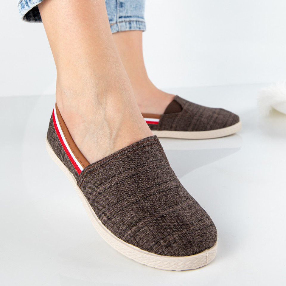 "Espadrile ""MireaFashion"" Cod: 348 BROWN (P5)"