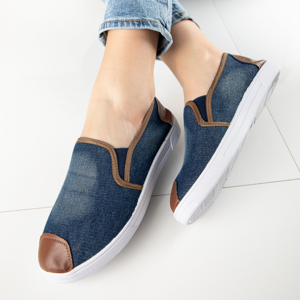 "Espadrile ""MireaFashion"" Cod: 868 NAVY (L7)"