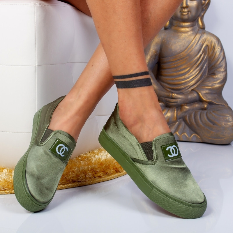 "Espadrile ""MireaFashion"" Cod: H2115 Army Green (A12)"