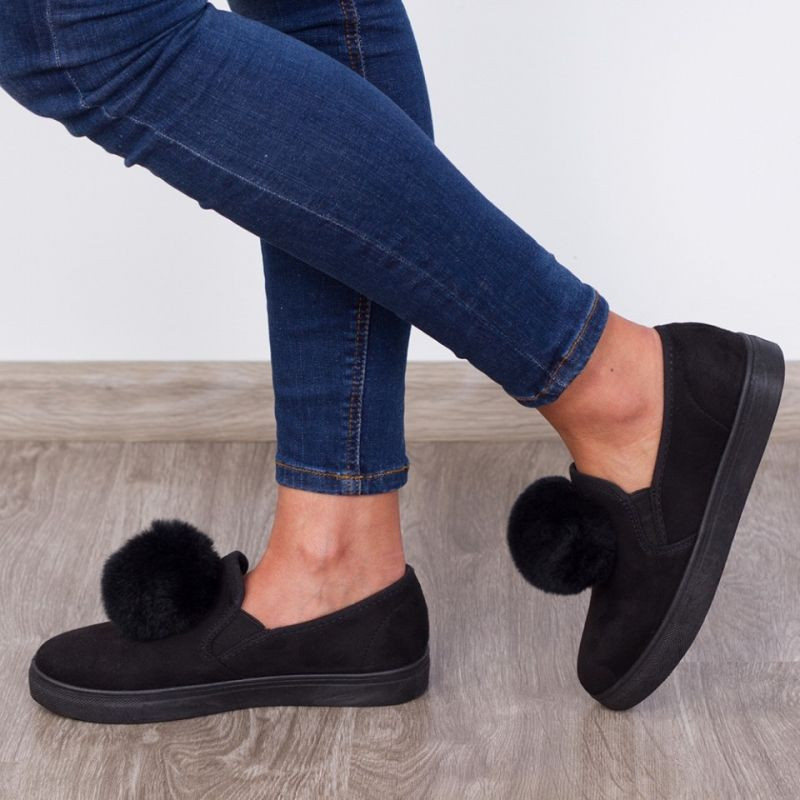 "Espadrile ""MireaFashion"" Cod: W7682-1 Black (H14)"