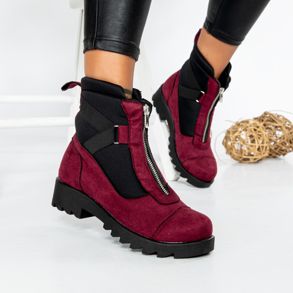 "Ghete ""MireaFashion"" cod: 600-A BORDO (C16)"