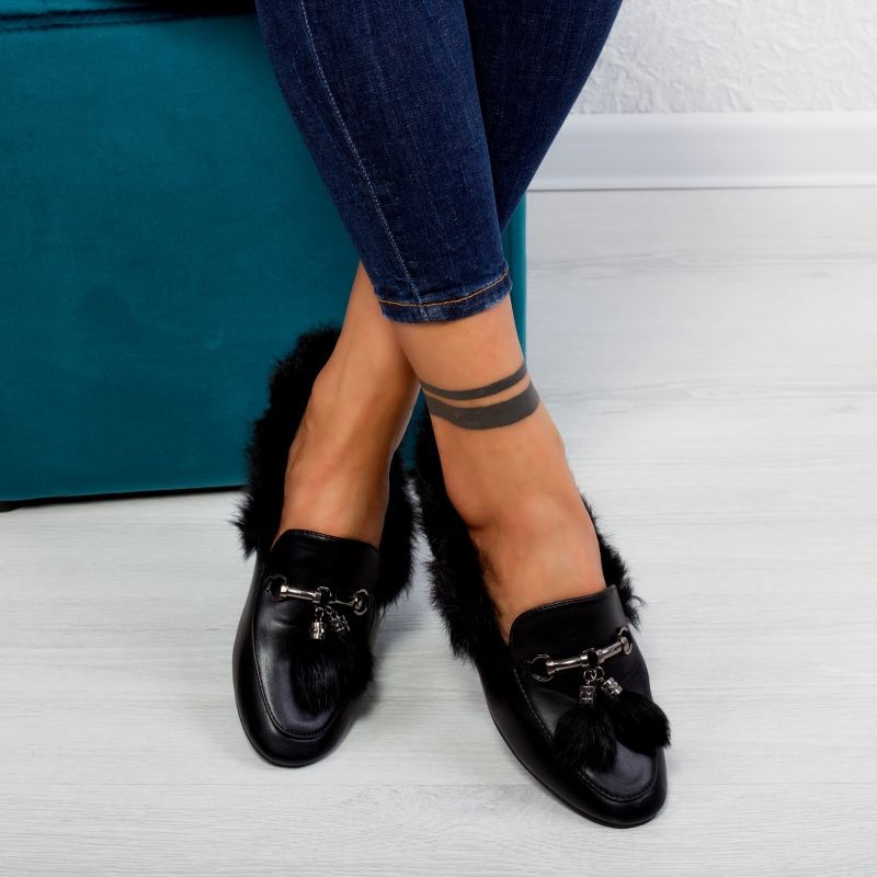 "Pantofi ""MireaFashion"" Cod: HY-6613 BLACK (S8)"
