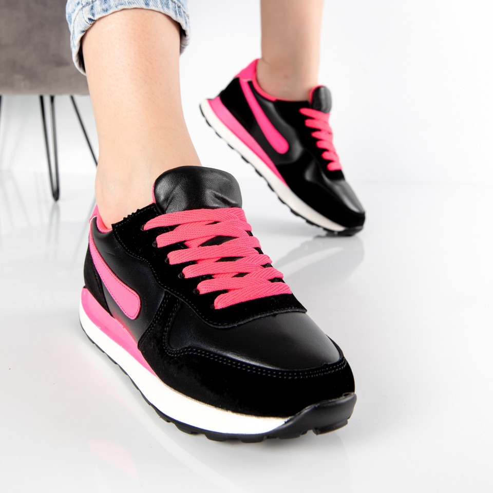 "Pantofi Sport ""MireaFashion"" Cod: 01 BLACK/PINK (S16)"
