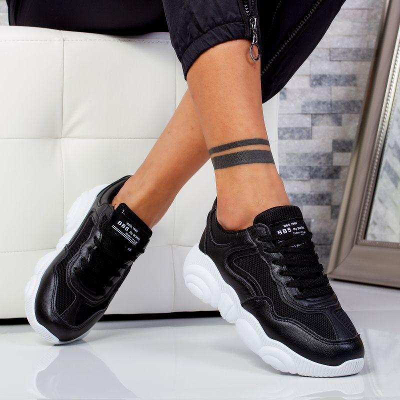 "Pantofi sport""MireaFashion"" Cod: 527-1 BLACK (M13-14)"