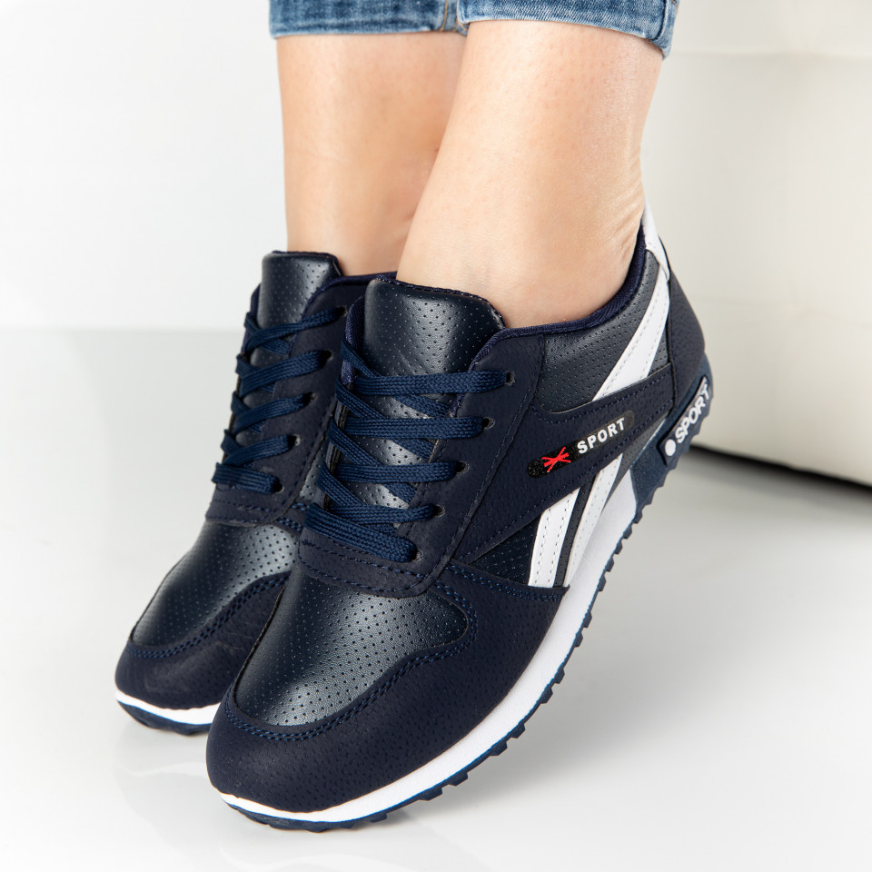 "Pantofi Sport ""MireaFashion"" Cod: 816 NAVY/WHITE (L12-13)"