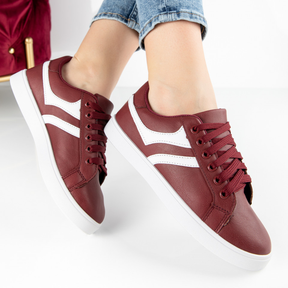 "Pantofi Sport ""MireaFashion"" Cod: A1811-4 WINE RED (C16)"