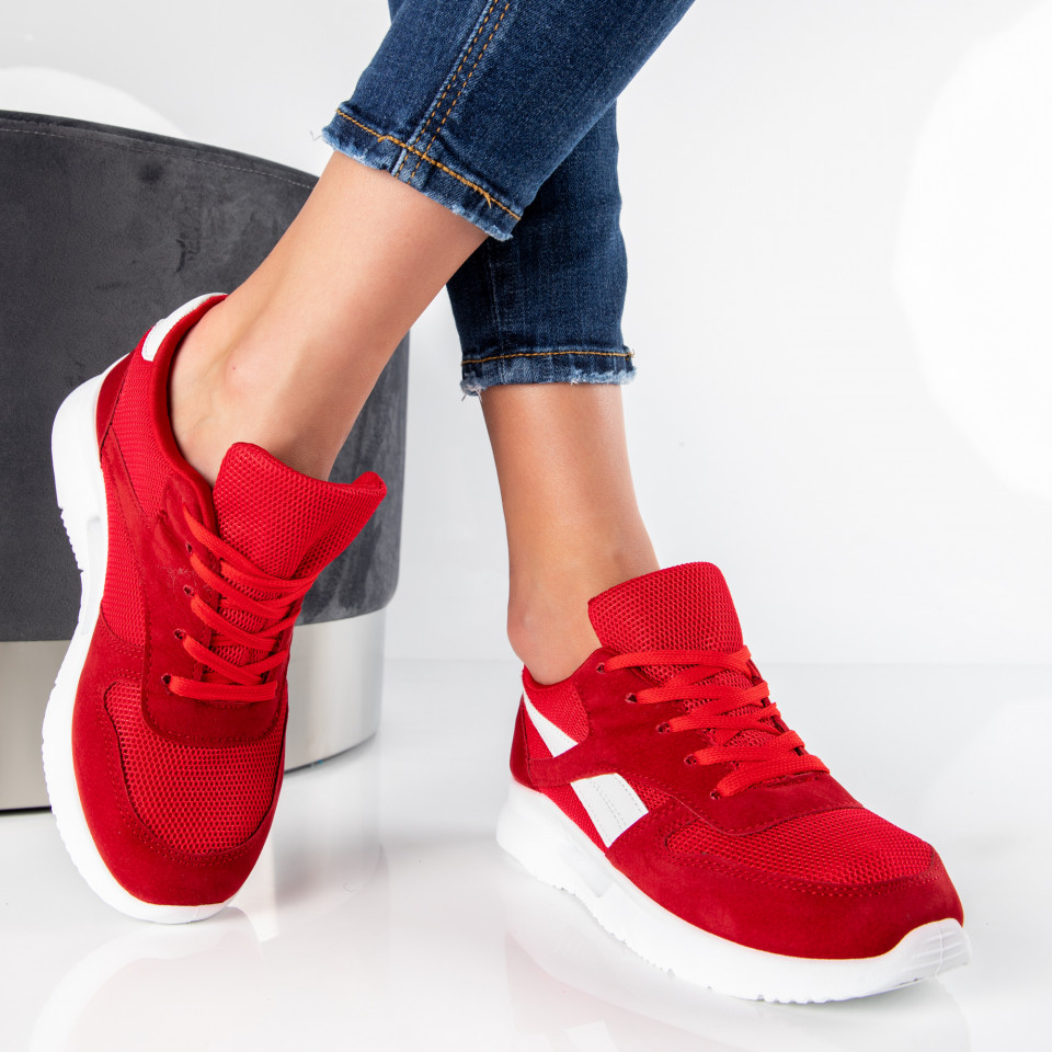 "Pantofi Sport ""MireaFashion"" Cod: B05 RED/WHITE (D14)"