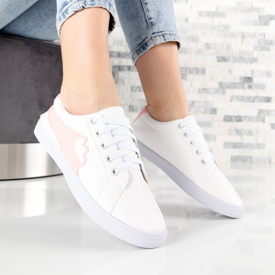 "Pantofi Sport ""MireaFashion"" Cod: HQ-117 WHITE/PINK (Q10)"