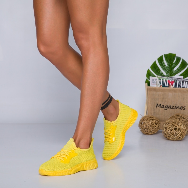 "Pantofi Sport ""MireaFashion"" Cod: HQ-34-156 YELLOW (A15)"