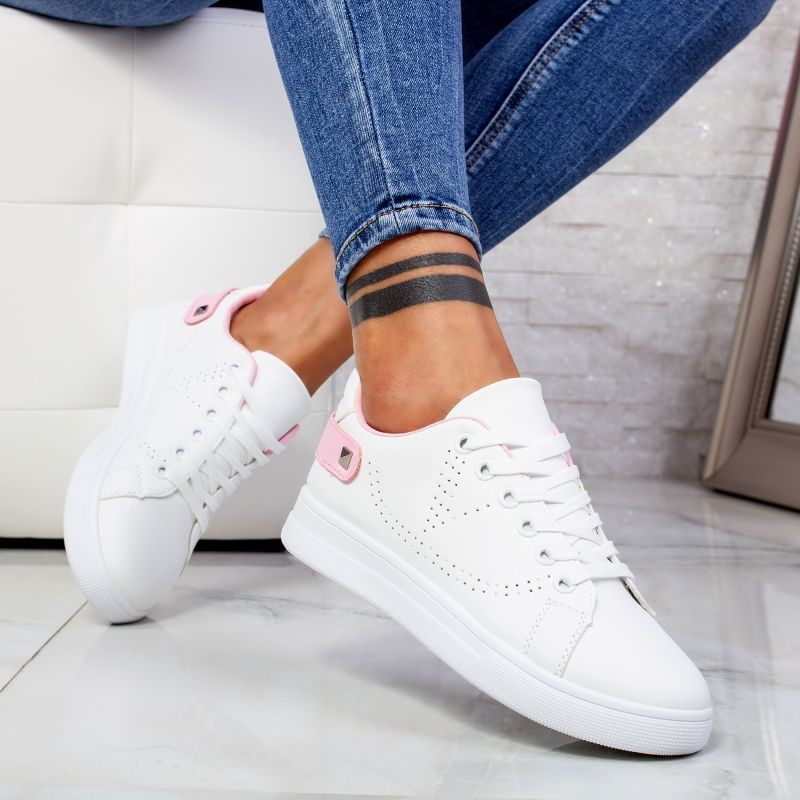 "Pantofi Sport ""MireaFashion"" Cod: J1827 WHITE/PINK (Q2)"