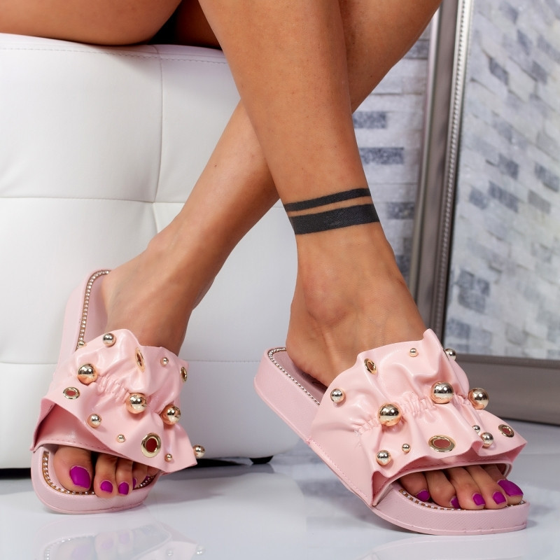 "Papuci ""MireaFashion"" Cod: WS9204 PINK (Q12)"