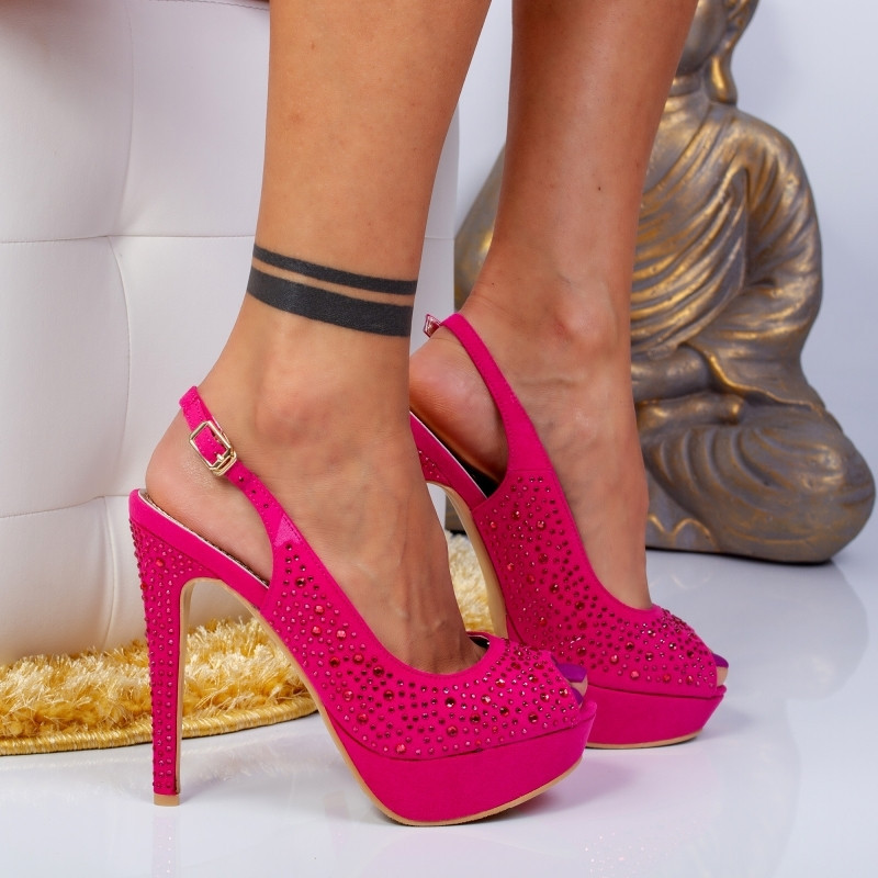 "Sandale ""MireaFashion"" Cod: M3212-9 FUCHSIA (B12)"