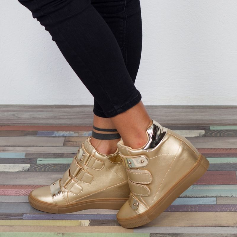 "Sneakers ""MireaFashion"" Cod: 5128-E28 LT. GOLD ( C1 )"