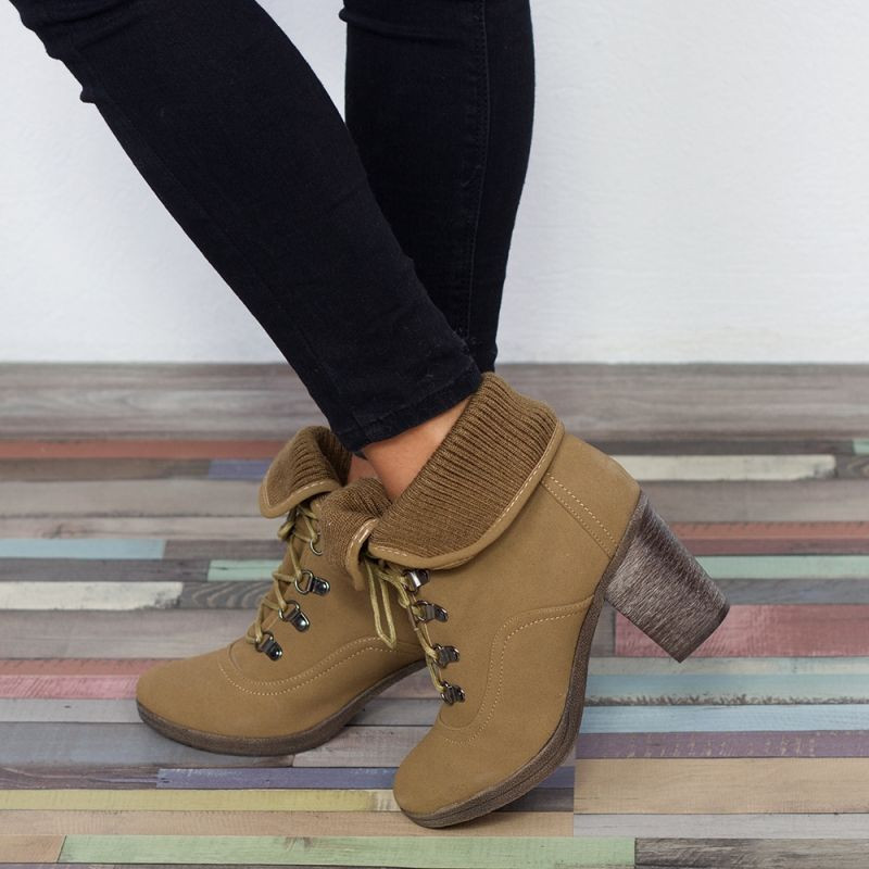 "Botine ""MireaFashion"" Cod: L1803 Khaki ( G15 )"