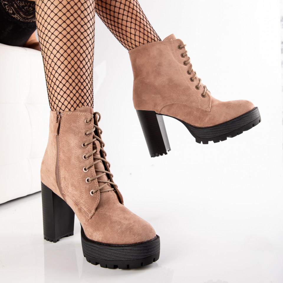 "Botine ""MireaFashion"" Cod: OM5317-2 KHAKI (F2)"