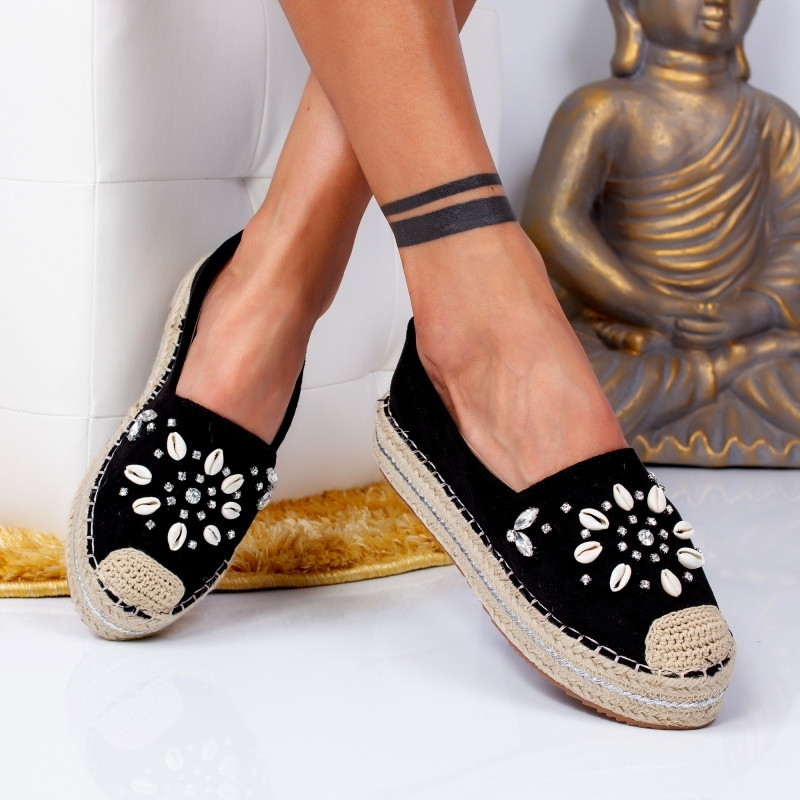 "Espadrile ""MireaFashion"" Cod: 00105 BLACK (AA13)"