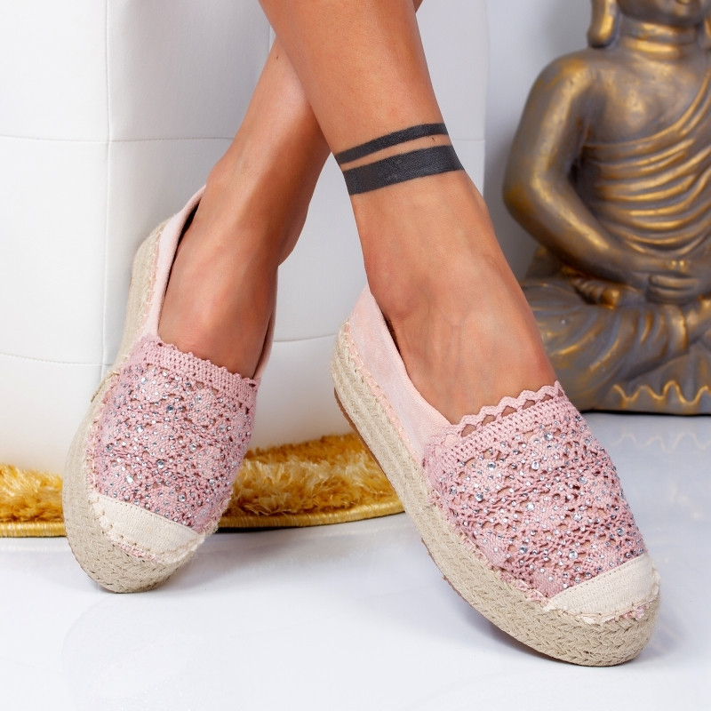 "Espadrile ""MireaFashion"" Cod: 00680 PINK (E6)"