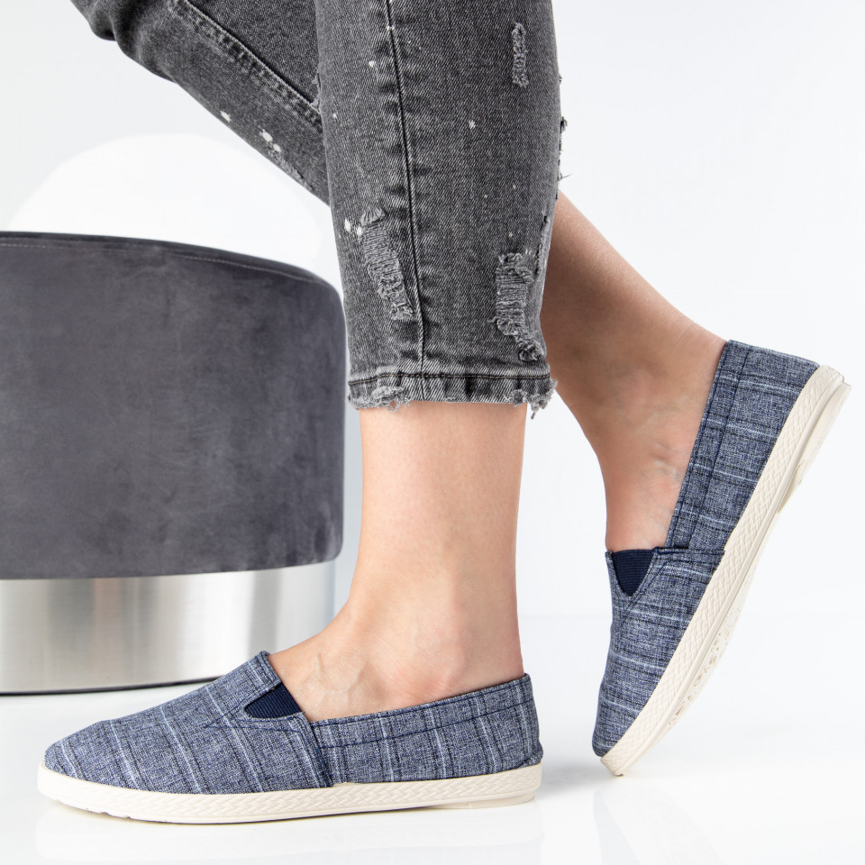 "Espadrile ""MireaFashion"" Cod: 349 NAVY (M4-5)"