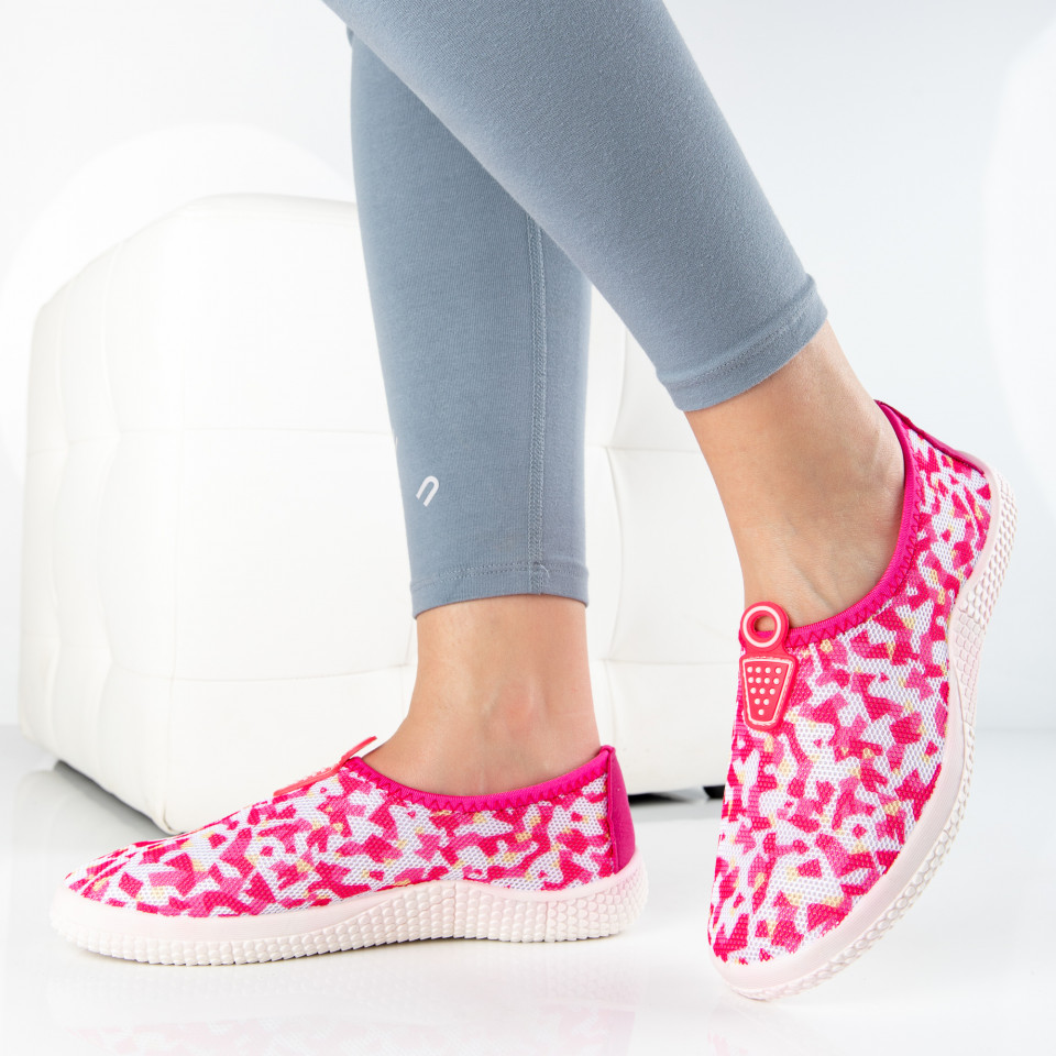 "Espadrile ""MireaFashion"" Cod: 363 FUCHSIA (i12)"
