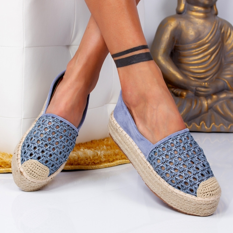 "Espadrile ""MireaFashion"" Cod: 8716 BLUE (MM4-5)"