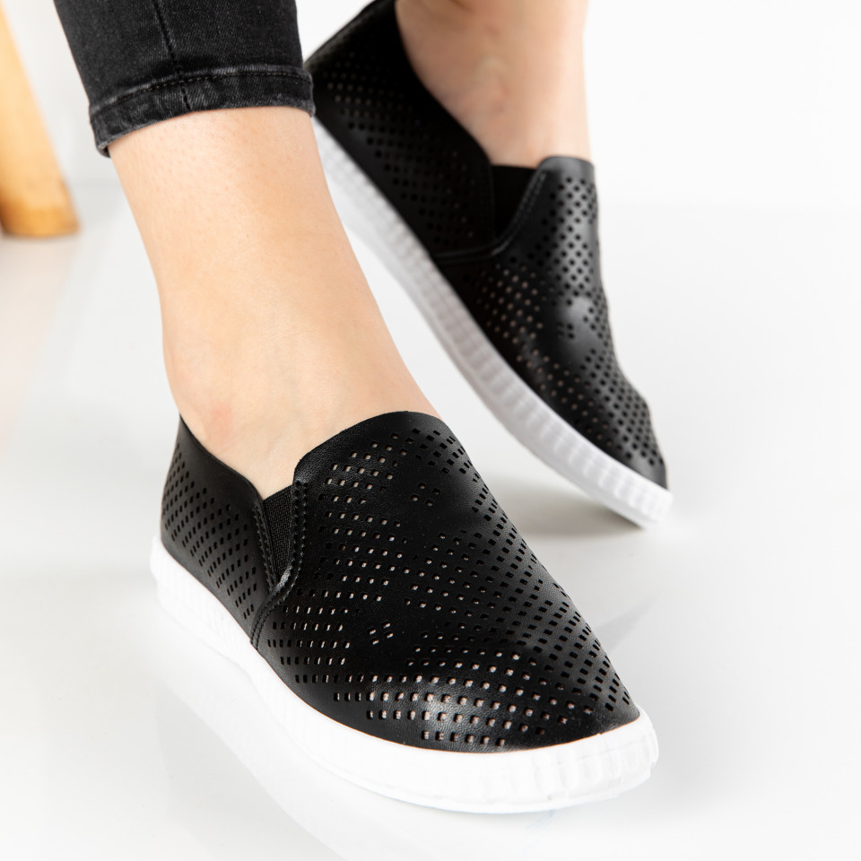 "Espadrile ""MireaFashion"" Cod: DS8830-1 BLACK (F2)"