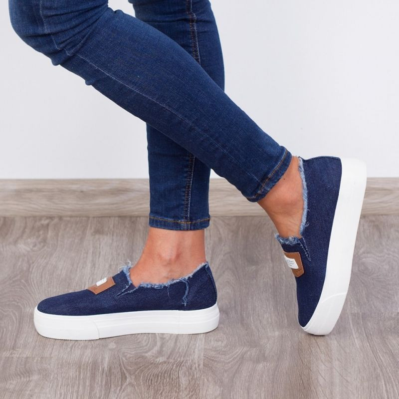 "Espadrile ""MireaFashion"" Cod: H2055 Blue (P1)"
