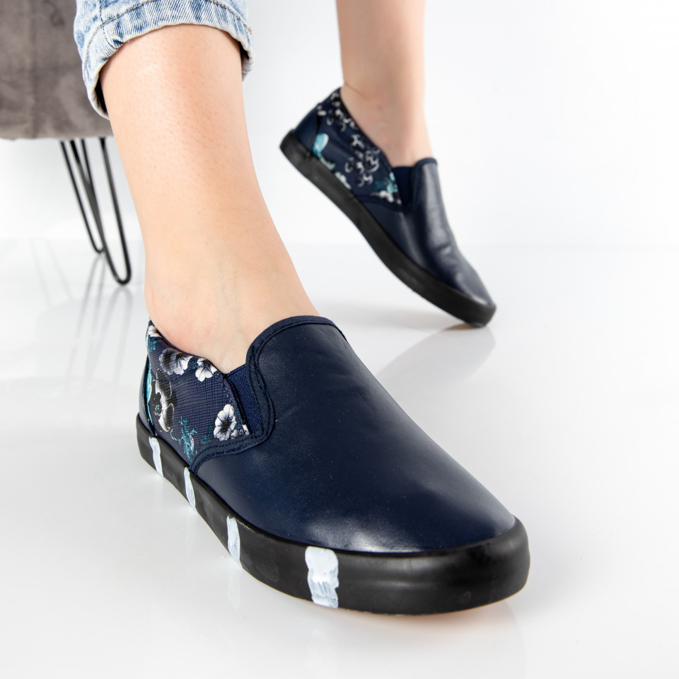 "Espadrile ""MireaFashion"" Cod: HY-10 NAVY (C2)"