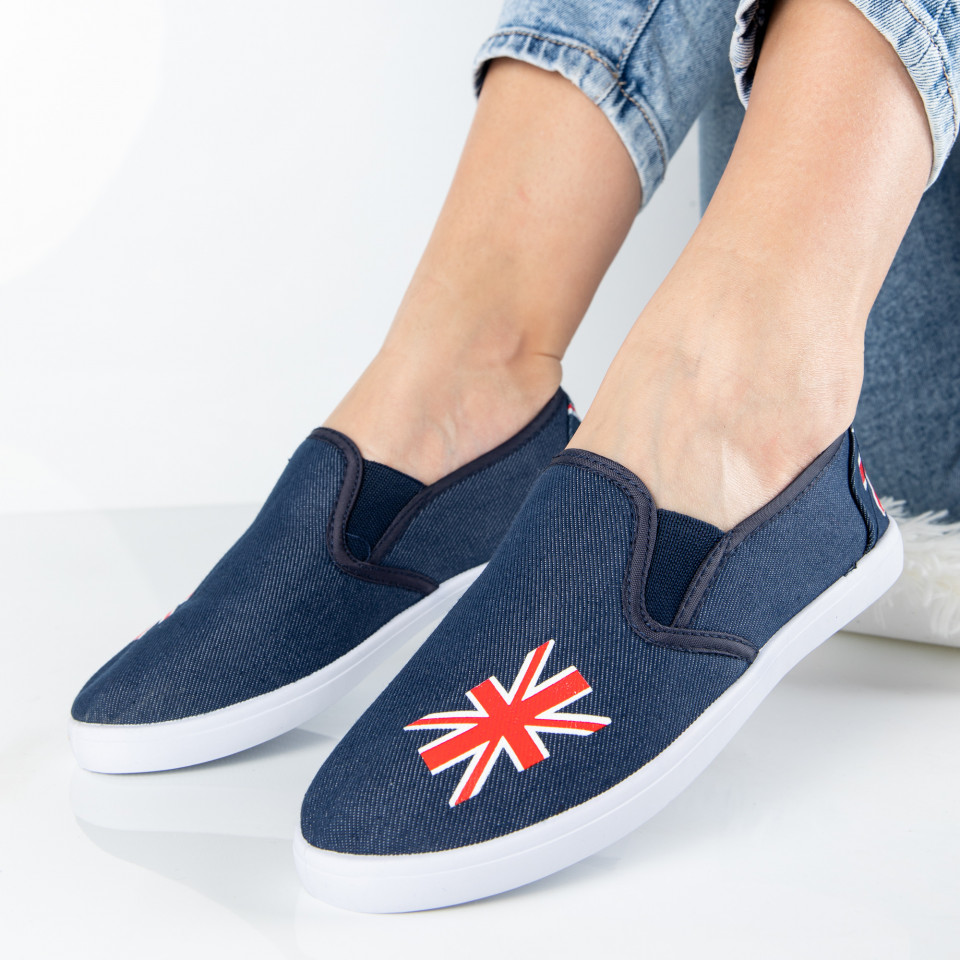 "Espadrile ""MireaFashion"" Cod: ZJ-18 JEANS (M7)"