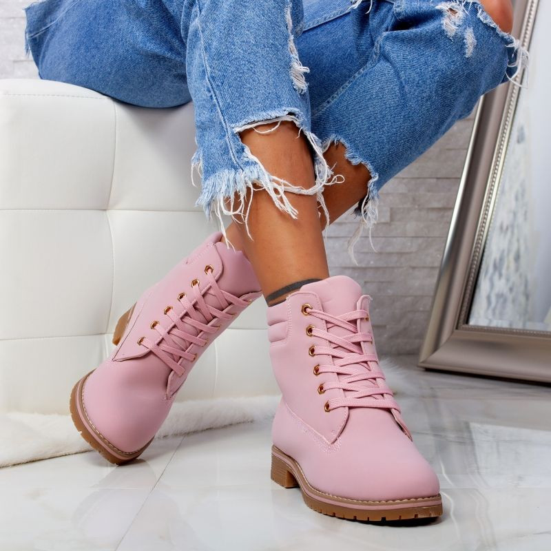 "Ghete ""MireaFashion"" Cod: LT918-5 PINK (E12)"