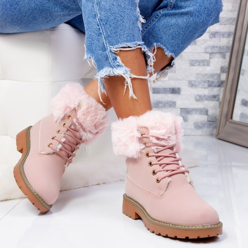 "Ghete ""MireaFashion"" Cod: LT976-4 PINK (O11-12)"