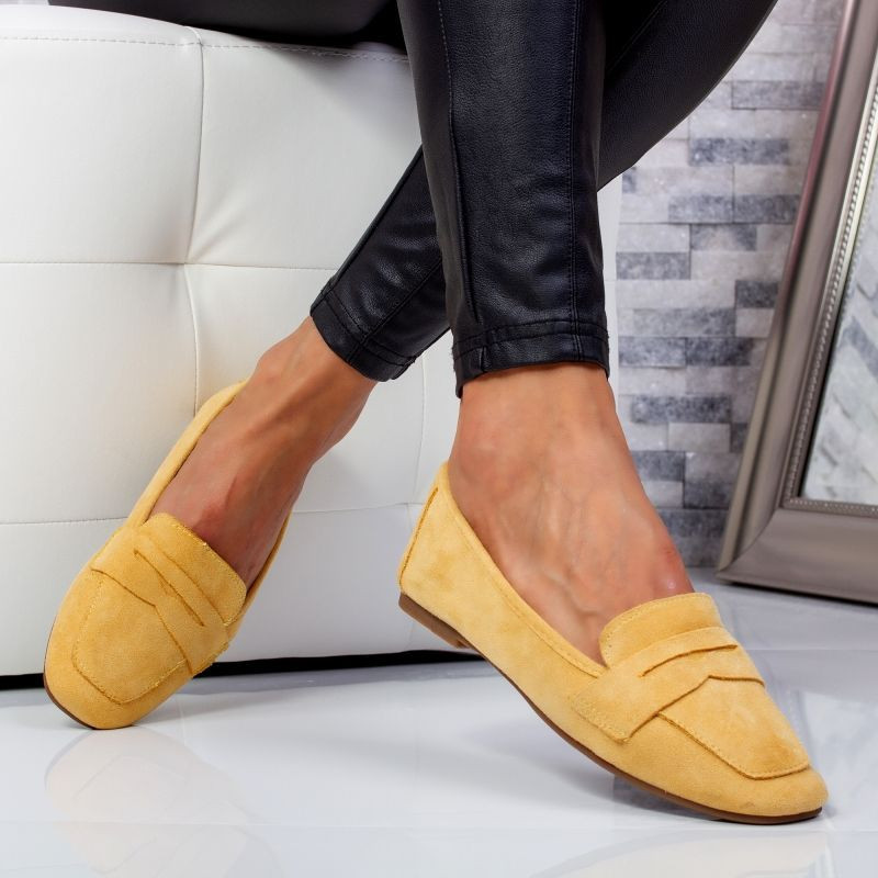 "Pantofi ""MireaFashion"" Cod: WH1929 YELLOW (Q7)"