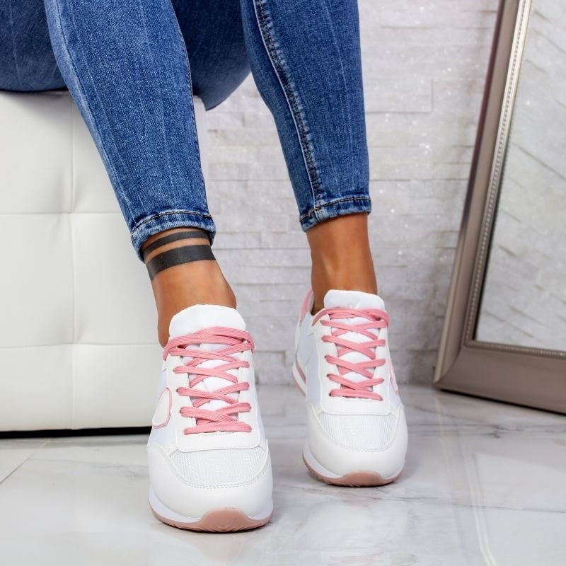 "Pantofi Sport ""MireaFashion"" Cod: 5201 WHITE/PINK (D5-6)"