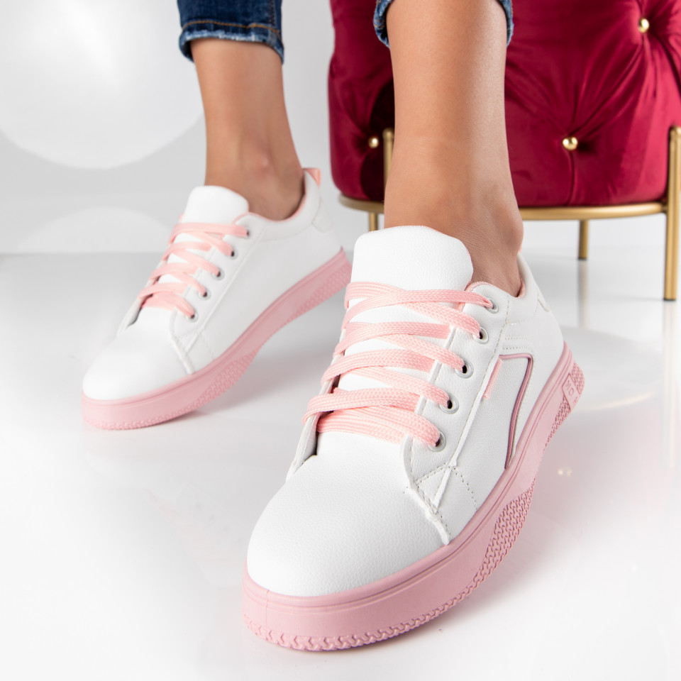 "Pantofi Sport ""MireaFashion"" Cod: HQ-008-36 WHITE/PINK (Q6)"