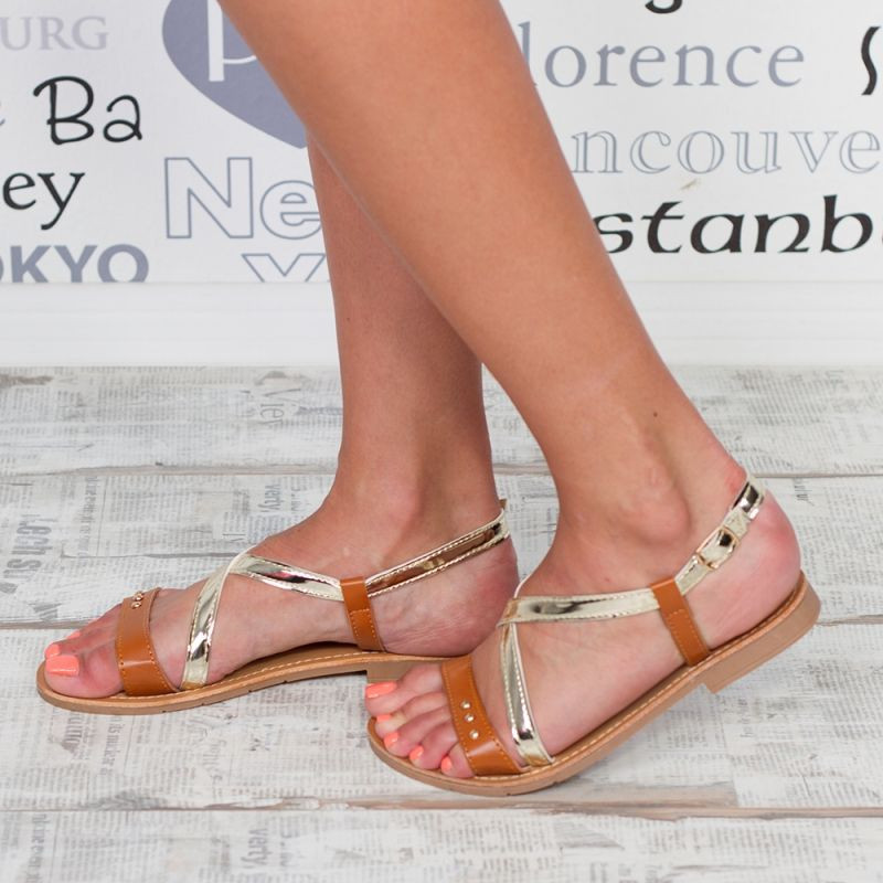 "Sandale ""MireaFashion"" Cod: F-04 BROWN(A20)"