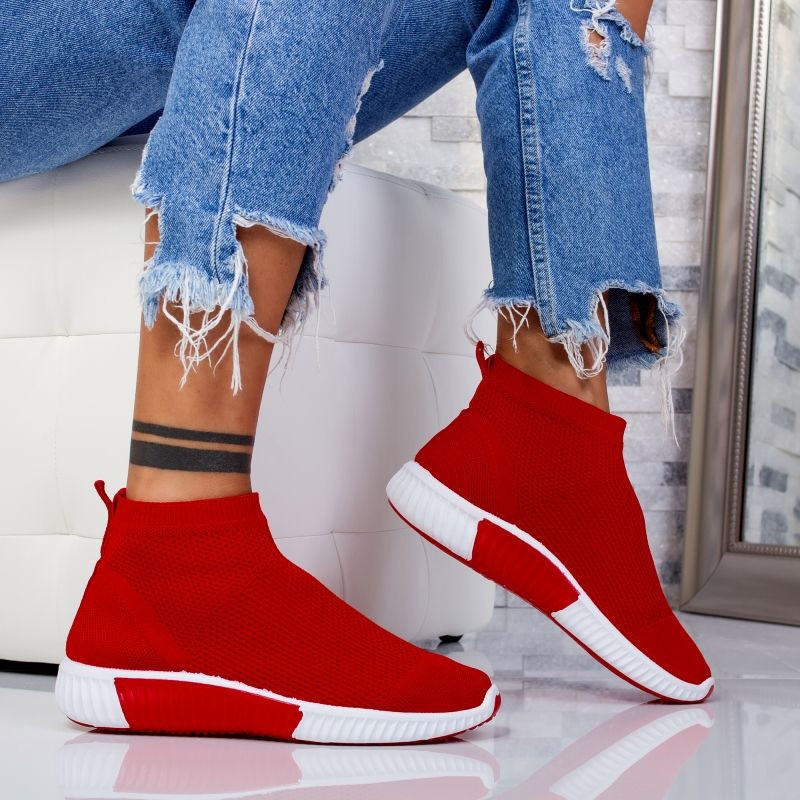 "Sneakers ""MireaFashion"" Cod: 81013-4 RED (C2)"