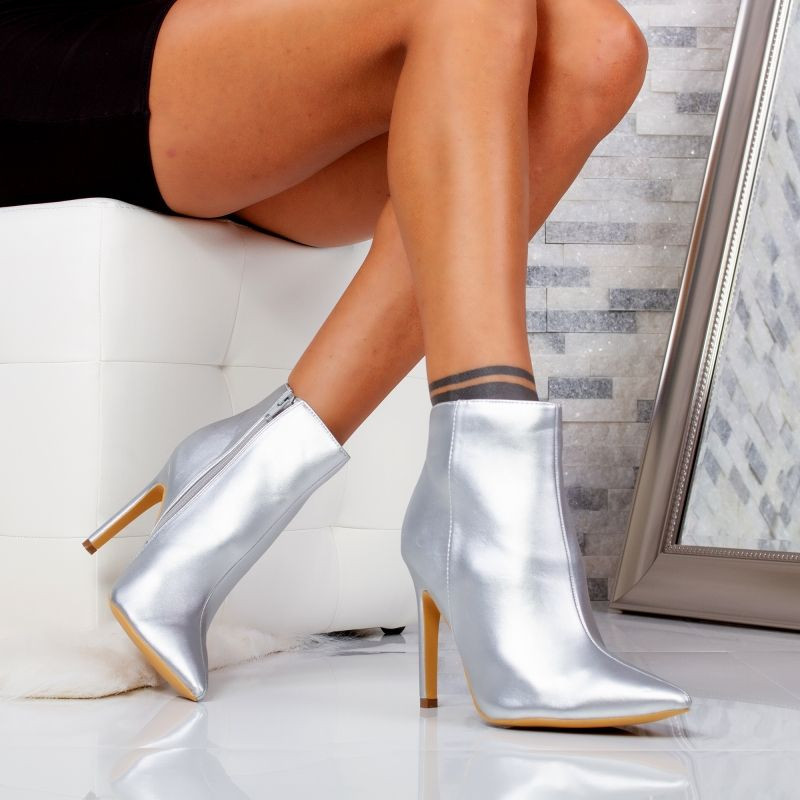 "Botine ""MireaFashion"" Cod: 5505-6 SILVER (A11-13)"
