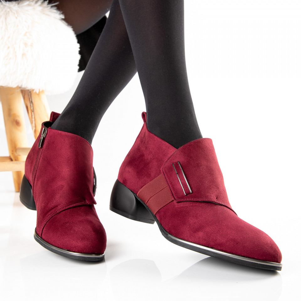 "Botine ""MireaFashion"" Cod: 804 BORDO (Q4)"