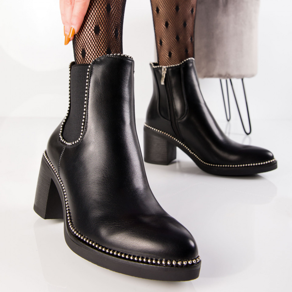 "Botine ""MireaFashion"" Cod: K108 BLACK (M3)"