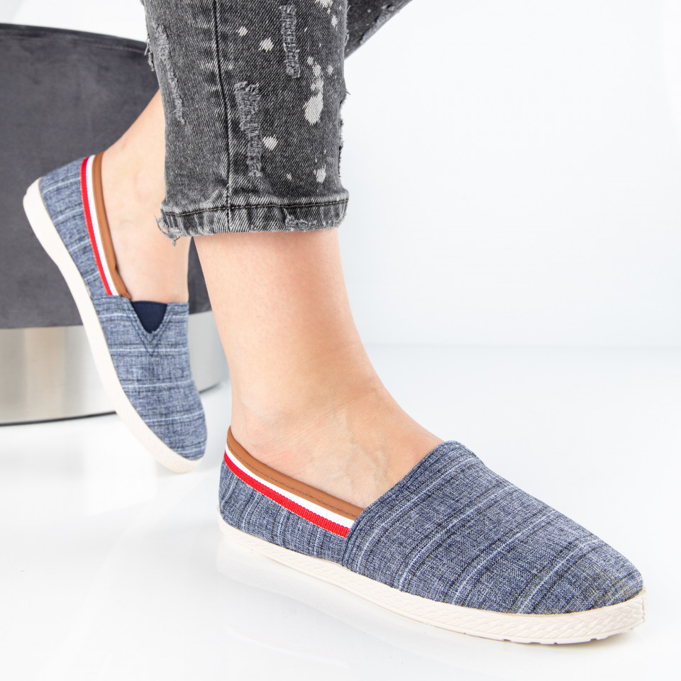 "Espadrile ""MireaFashion"" Cod: 348 NAVY (i5)"