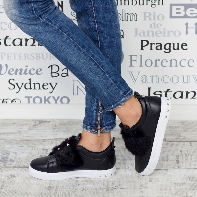 "Espadrile ""MireaFashion"" Cod: HY308 BLACK(i 11)"